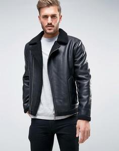 Куртка из искусственной кожи Only & Sons - Черный
