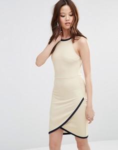 Платье с запахом на юбке Wal G - Кремовый