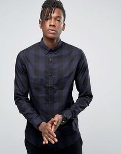 Рубашка в клетку на пуговицах Only & Sons - Темно-синий