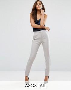 Приталенные брюки премиум-класса ASOS TALL - Серый