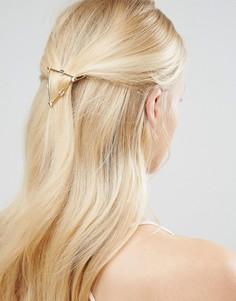 Заколка для волос в виде треугольника из стрел DesignB - Золотой
