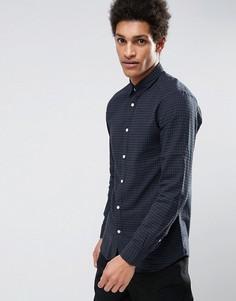 Узкая рубашка в клетку Selected Homme - Черный