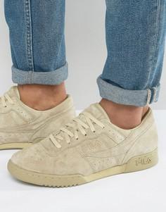 Замшевые кроссовки Fila Original Fitness Premium - Stone
