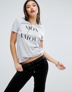 Футболка Juicy Couture Amour - Серый