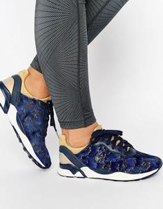 Темно-синие кроссовки с цветочным принтом Le Coq Sportif R Xvi - Темно-синий