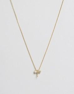Ожерелье со стрекозой Orelia - Золотой