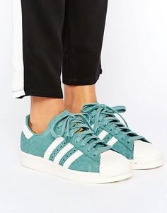 Сине-зеленые кроссовки с тисненым змеиным рисунком adidas Originals - Зеленый