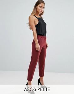Укороченные креповые брюки-сигареты ASOS PETITE - Красный