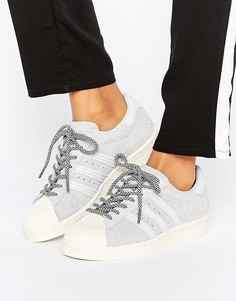 Серые замшевые кроссовки adidas Originals Superstar - Серый