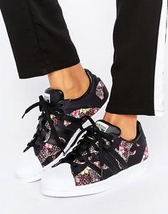 Кроссовки с леопардовым принтом adidas Originals X Farm - Мульти