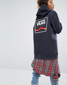 Темно-серое oversize-худи с логотипом сзади Vans - Черный