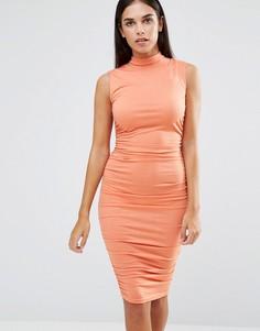 Платье миди без рукавов AX Paris - Розовый