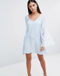 Свободное платье с рукавами кроше AX Paris - Синий
