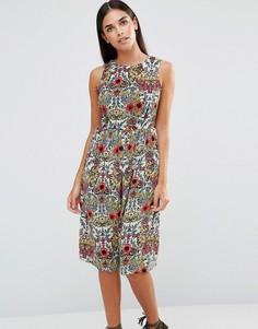 Платье миди с цветочным принтом AX Paris Vintage - Мульти