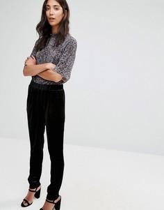 Черные бархатные брюки-галифе b.Young - Черный