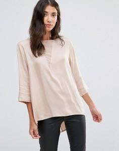 Блузка со складкой сзади b.Young Flow - Розовый