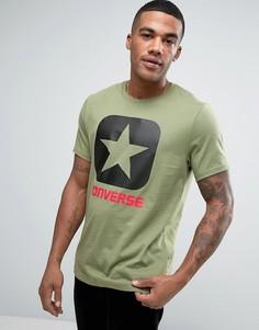 Зеленая футболка Converse Box Star 10001969-A05 - Зеленый