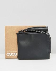 Черный кошелек на молнии с кисточкой ASOS - Черный