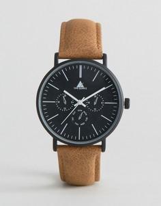 Часы с состаренным кожаным ремешком ASOS - Коричневый