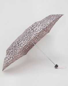 Миниатюрный зонт с леопардовым принтом Totes - Розовый