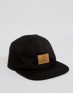 5-панельная кепка в елочку ASOS - Черный