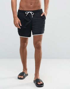 Черные шорты для плавания средней длины ASOS - Черный