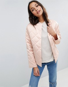 Стеганая куртка ASOS Luxe - Розовый