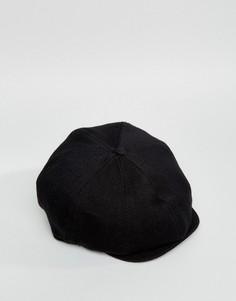 Черная кепка с шевронным узором ASOS - Черный
