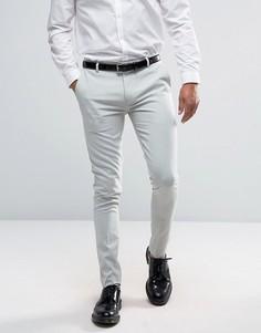 Светло-голубые супероблегающие брюки ASOS - Синий