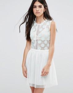 Приталенное платье Traffic People - Синий
