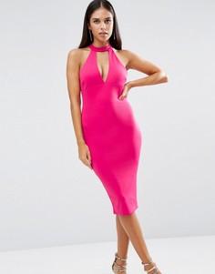 Платье-футляр с чокером AX Paris - Фиолетовый