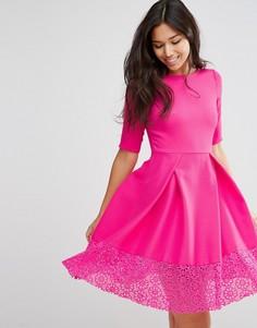 Платье с кружевной отделкой Traffic People Hepburn - Розовый