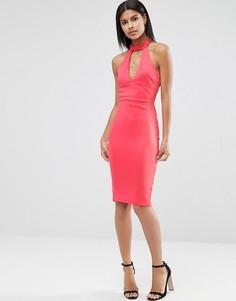 Платье-футляр с чокером AX Paris - Розовый