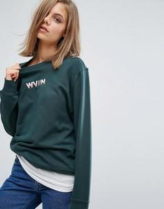 Свитшот с логотипом Waven - Зеленый