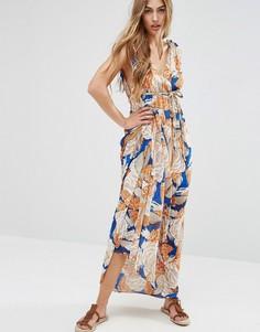 Платье макси с принтом в стиле 70-х Traffic People - Синий