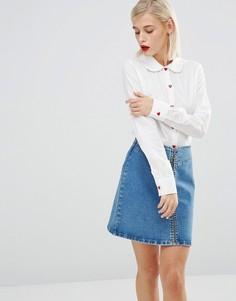 Белая рубашка Love Moschino - Белый