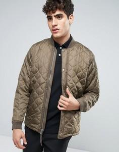 Зеленая стеганая куртка Abercrombie & Fitch - Зеленый