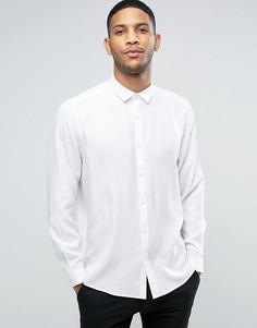 Белая вискозная oversize-рубашка ASOS - Белый