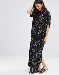 Длинное платье Vila Spottes - Черный