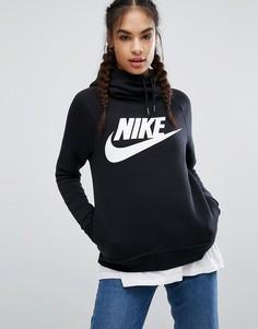 Черное худи Nike Rally - Черный