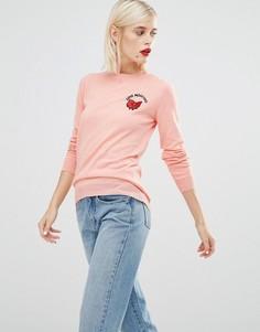 Джемпер с бантиком Love Moschino - Розовый