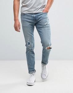 Супероблегающие джинсы Abercrombie & Fitch - Синий