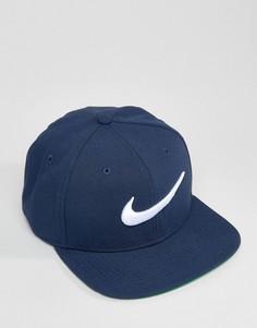 Темно-синяя бейсболка с галочкой Nike 639534-451 - Темно-синий