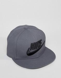 Серая кепка с логотипом Nike 584169-027 - Серый