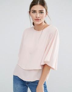 Укороченный топ с расклешенными рукавами Daisy Street - Розовый