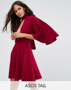 Платье-кимоно мини с горловиной-чокер ASOS TALL - Красный