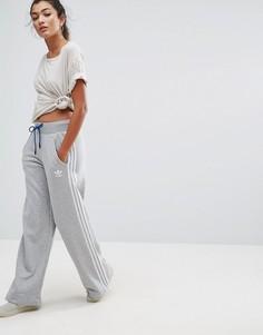 Брюки с широкими штанинами Adidas Train - Серый