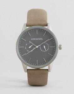 Часы со светло-бежевым кожаным ремешком UNKNOWN - Бежевый
