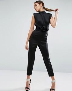 Комбинезон с ремнем в стиле 80-х ASOS - Черный