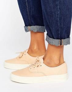 Кожаные кроссовки натурального цвета Vans Authentic Dx - Кремовый